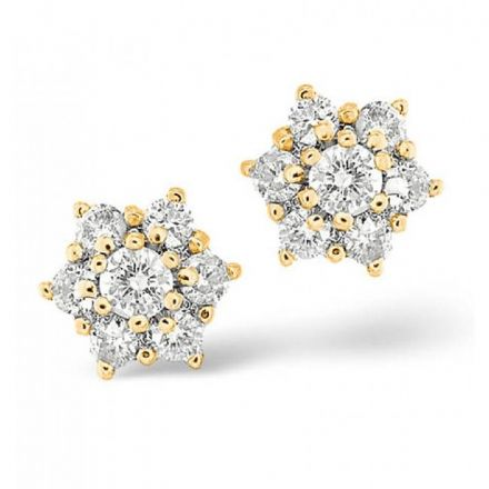 18K Gold Diamond Earring 1.00ct H/si, N1190  Change to Gemstone? Call us